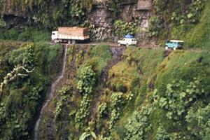 Les routes les plus dangereuses du monde bolivie