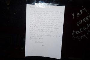 Couchsurfing lettre Ayr