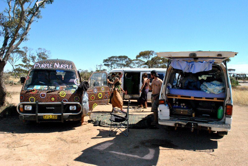 Camping entre vans
