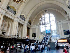 Gare de Kiev en Ukraine