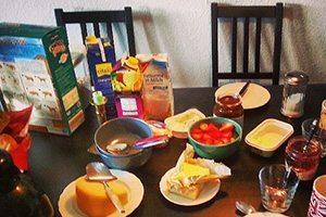 Couchsurfing petit-déjeuner