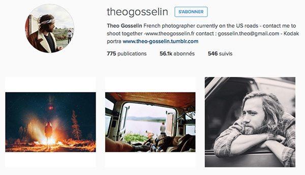 Instagram voyage Theo Gosselin