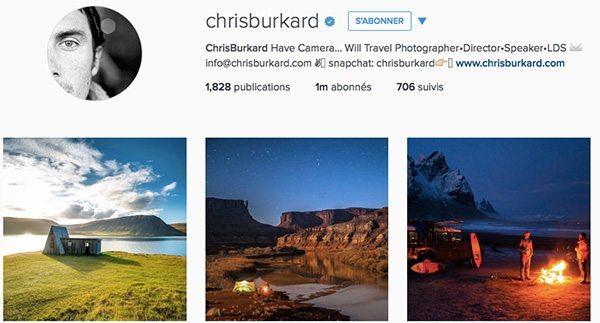Chrisburkard meilleurs instagram