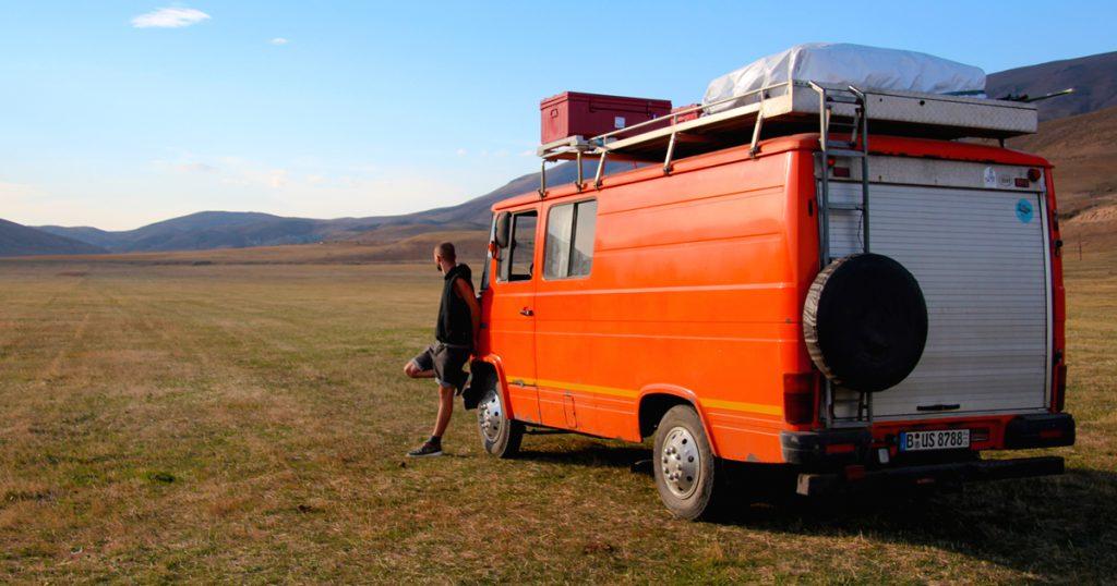 Voyage en van Orange Van Trip
