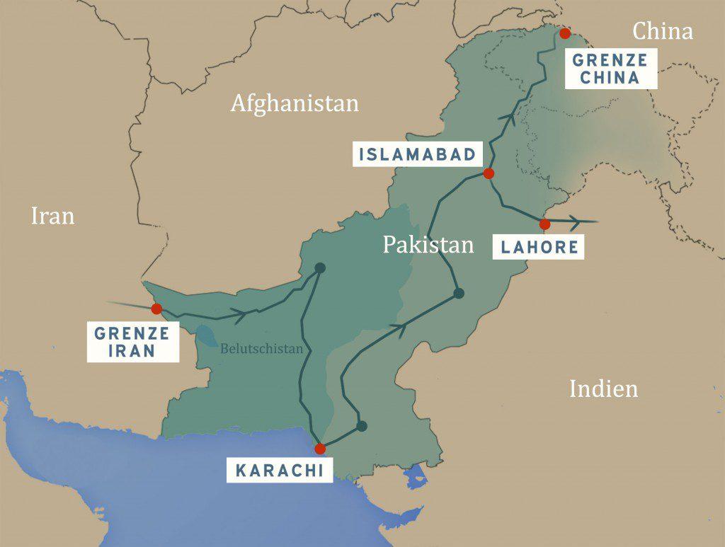 Carte conflits Pakistan